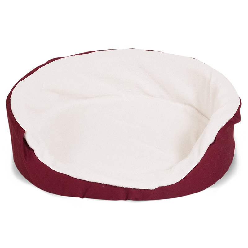 Majestic Pet Products 23x18 inches Burgundy Lounger Dog Bed-Small