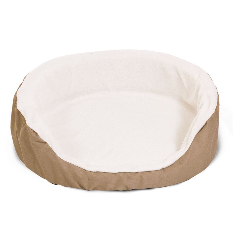 Majestic Pet Products 23x18 inches Khaki Lounger Dog Bed-Small
