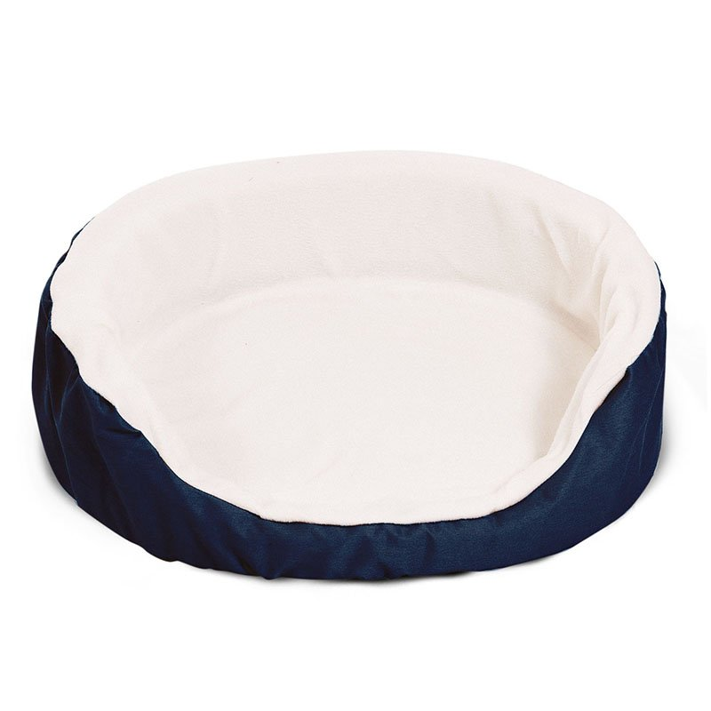 Majestic Pet Products 28x21 inches Blue Lounger Dog Bed-Medium