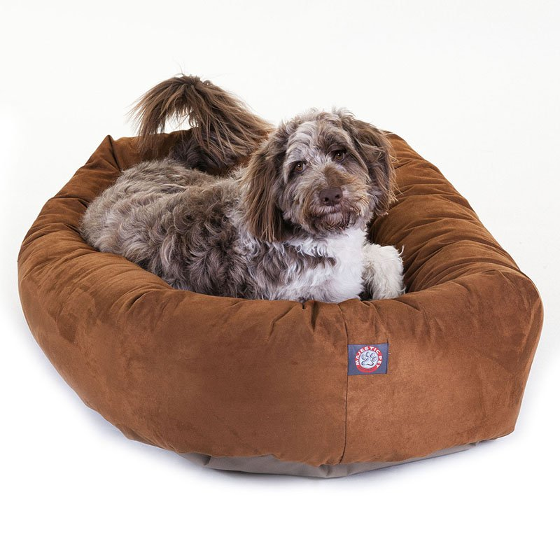 Majestic Pet Products 52-inch Rust Suede Bagel Dog Bed