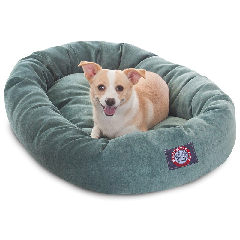 Majestic Pet Products 32-inch Azure Villa Collection Micro-Velvet Bagel Bed