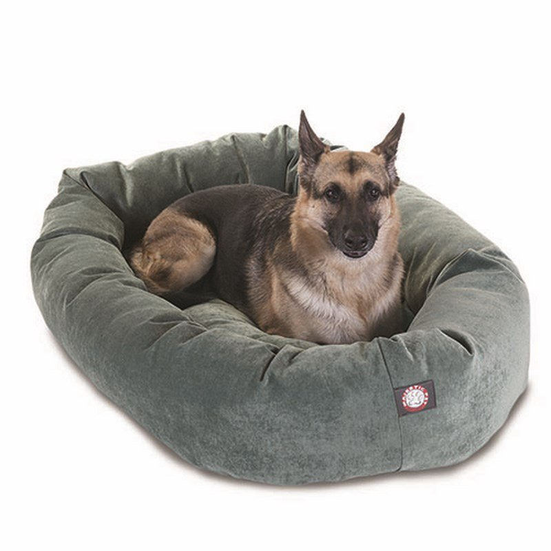 Majestic Pet Products 52-inch Azure Villa Collection Micro-Velvet Bagel Bed