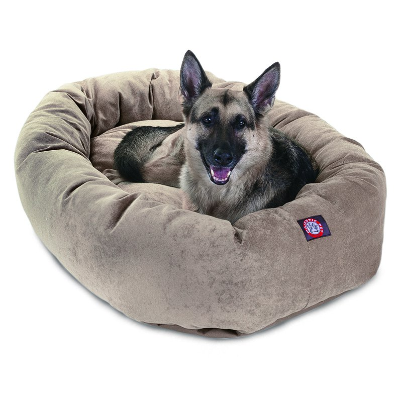 Majestic Pet Products 52-inch Pearl Villa Collection Micro-Velvet Bagel Bed