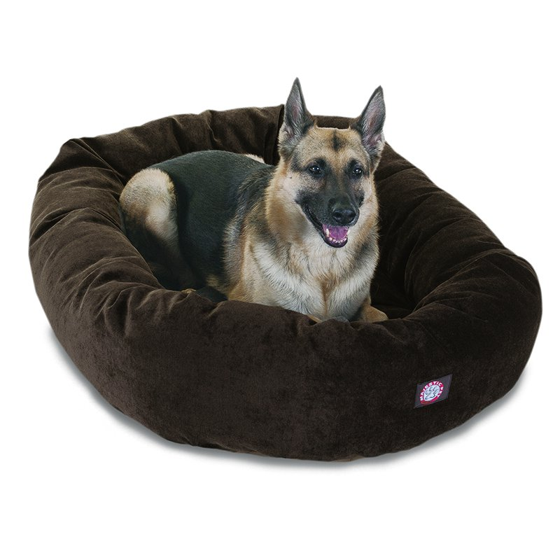 Majestic Pet Products 52-inch Storm Villa Collection Micro-Velvet Bagel Bed
