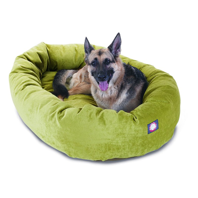 Majestic Pet Products 52-inch Apple Villa Collection Micro-Velvet Bagel Bed
