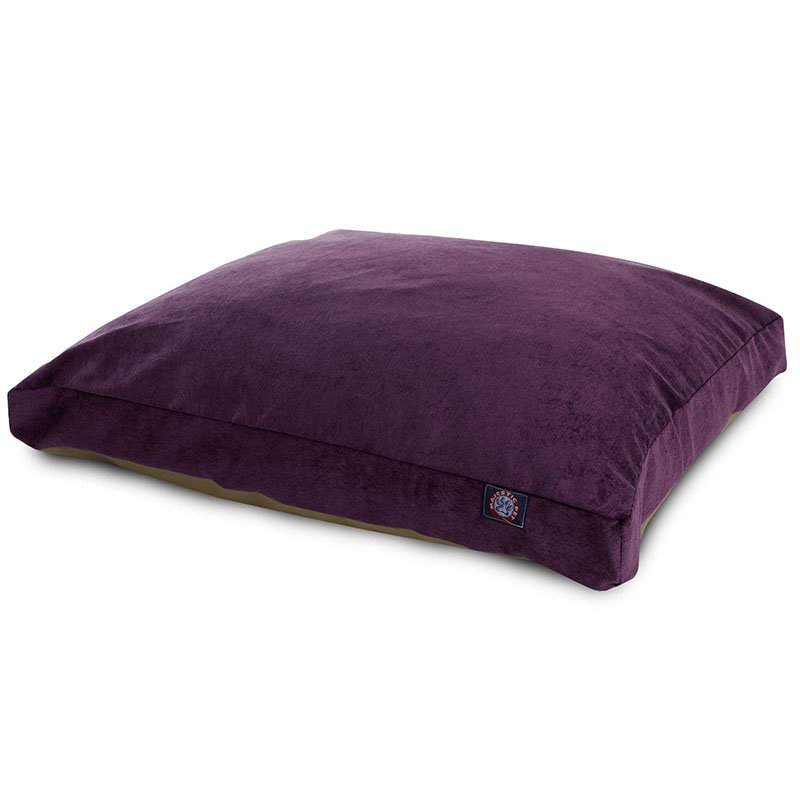 Majestic Pet Products Aubergine Villa Collection Medium Rectangle Dog Bed
