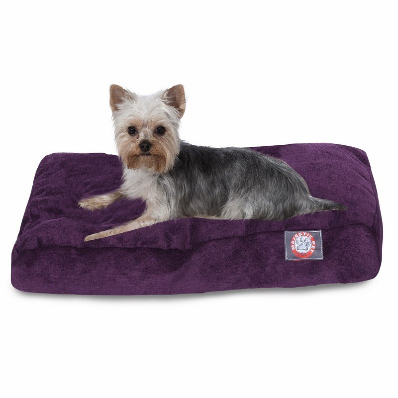 Majestic Pet Products Aubergine Villa Collection Small Rectangle Dog Bed