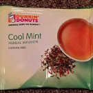Dunkin Donuts Cool Mint Herbal Infusion Tea With 50 tea bags