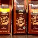 Dunkin Donuts Original, French Vanilla, Hazelnut, Dark Roast Ground Coffee 4LB