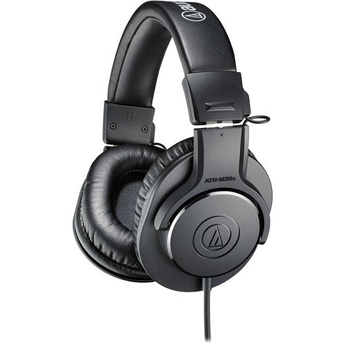 Audio-Technica  ATH-M20x Monitor Headphones (Black)