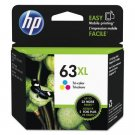 HP 63XL High Yield Tri-Color Original Ink Cartridge - F6U63AN#140