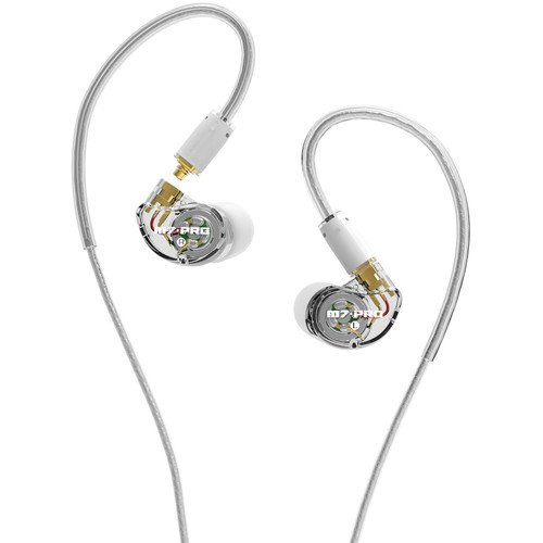 MEE Audio M7 Pro Hybrid Dual Driver Musician& 39 s In Ear Monitors with Detachable Ca
