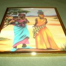 Two African Women Talking/Art Print/Framed with Glass/