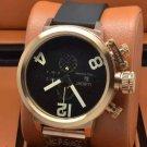 Men Watch U1215 Classico Chronograph 50mm Stainless Steel Gold Tone Bezel
