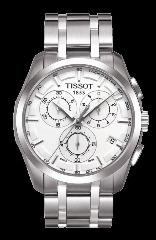 Men Watch Tissot Couturier T035.617.11.031.00 Chronograph Stainless Steel Dial Color White
