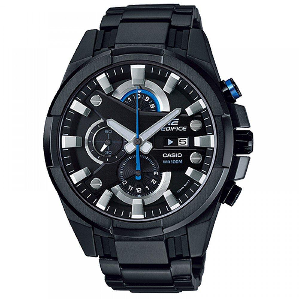 Men Watch Casio Edifice EFR-540BK-1AV Chronograph Stainless Steel Polished sTRAP
