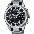 Men Watch Casio Edifice EFR-540D-1AV Chronograph Stainless Steel 46mm Dial Black