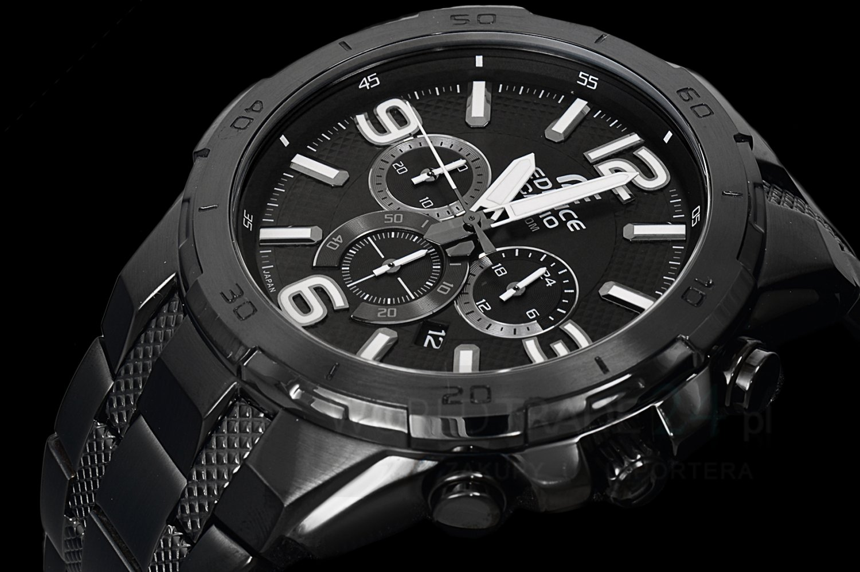 Casio Edifice EFR-538BK-1A Chronograph Stainless Steel Quartz Color Black Size 49mm