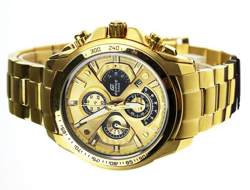 Casio Edifice EF-560FG-5A Chronograph Stainless Steel Quartz Color Gold