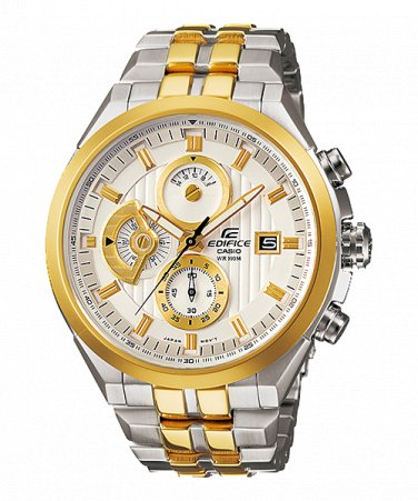 Casio Edifice EF-556SG-7AV Chronograph Stainless Steel Casual Dial Color White