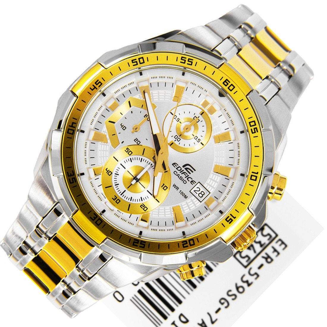 Casio Edifice EFR-539SG-7A Chronograph Stainless Steel Size 50mm Dial Color White