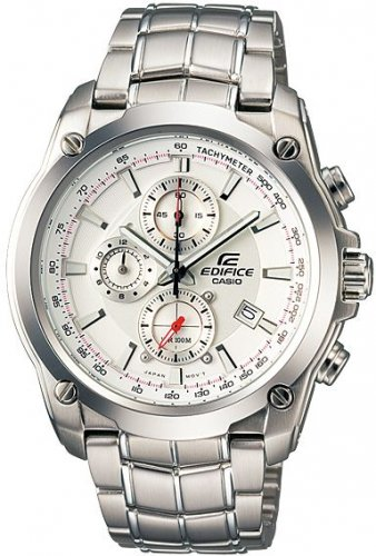 Casio Edifice EF-524D-7AV Chronograph Stainless Steel Size 43mm Color White