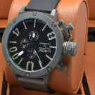 Men Watch U-Boat 1001 Grey Bezel Stainless Steel Case Dial Color Black/White