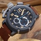 Men Watch U-BOAT Italo Fontana Chronograph Bezel Black Color Size 50mm