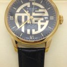 Men Watch Tissot Le Locle T42.5.423.53 Automatic Leather Strap Gold Tone Bezel