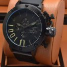 Men Watch U1001 Chronograph 50mm Stainless Steel Case Bezel Color Black