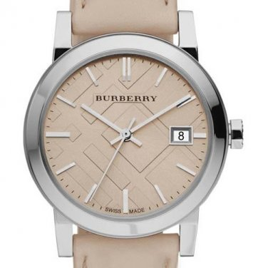 Women Watch Burberry BU9010 Large Check Stainless Steel Size 38mm