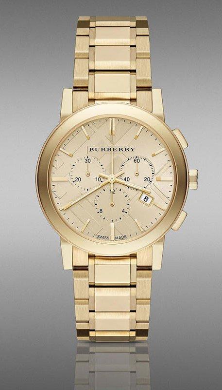 Women Watch Burberry BU9753 Chronograph Stainless Steel Size 38mm