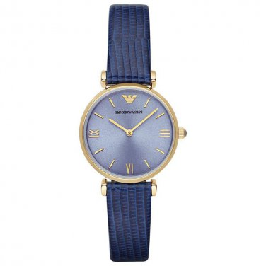 Women Watch Emporio Armani AR1875 Stainless Steel Size 32mm Color blue