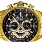 Casio Edifice EF-558FG-1AV Chronograph Stainless Steel Strap Gold Tone Dial Color Black