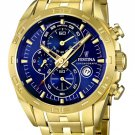 Festina  F16656/3 Men Watch Cheonograph Stainless Steel Dial Color Blue