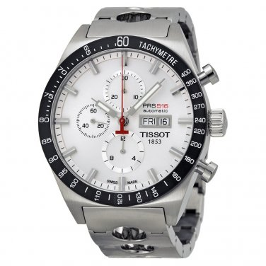 Men Tissot T044.614.21.031.00 PRS516 Automatic Stainless Steel Chronograph