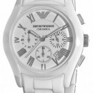 Emporio Armani Men Watch Ceramica AR1403 Chronnograph Dial Color White