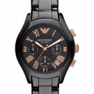 Emporio Armani Women Watch Ceramica AR1411 Chronnograph Dial Color Black