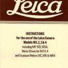 Leica - Instructions for the Use of the Leica Camera Models M1, 2, 3 and 4 :...
