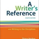 A Writer's Reference with Writing in the Disciplines by Diana Hacker and...