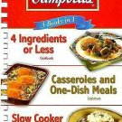 3 in One Digest: Campbell's 3 Books In 1 : 4 Ingredients or Less/Casseroles...