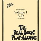 The Real Book Play-along - Volume 1 A-D : 3-CD Set (2008, CD / Paperback)