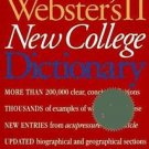 Webster's II New College Dictionary by Aridjis Staff and Inc. Staff...