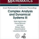 Complex Analysis and Dynamical Systems III : A Conference in Honor of the...