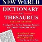 Dicitionary and Thesaurus by Webster's New College Dictionary Editors (2002,...