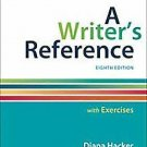 A Writer's Reference with Exercises by Diana Hacker and Nancy Sommers (2014,...
