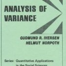 Quantitative Applications in the Social Sciences: Analysis of Variance Vol. 1...