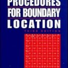 Evidence and Procedures for Boundary Location by Donald A. Wilson, Curtis M....