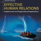 NEW - Free Express Ship - Effective Human Relations by Reece (13 Ed)