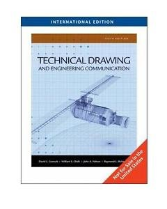NEW - Free Ship - Technical Drawing and Engineering Communication by Goetsch 6E